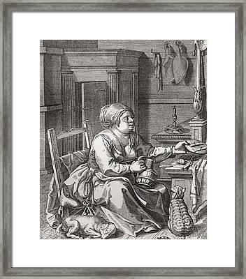Luxuriance, After The Painting By Jodocus Van Winghe.  From Illustrierte Sittengeschichte Vom Framed Print by Bridgeman Images