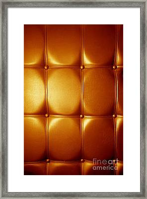 Luxury Genuine Leather. Golden Color Framed Print by Michal Bednarek