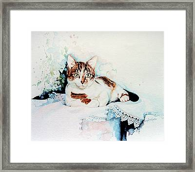 Luxury Lounge Framed Print by Hanne Lore Koehler