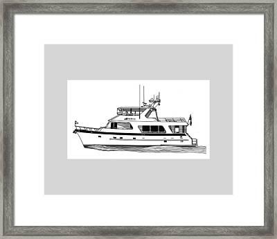 Luxury Motoryacht Framed Print by Jack Pumphrey