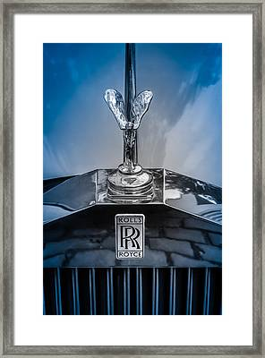 Luxury Rolls-royce Car Hood Ornament Framed Print by Mr Doomits