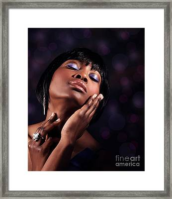 Luxury Woman's Portrait Framed Print