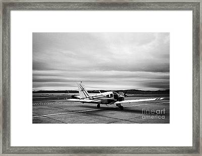 lv-ode piper pa-28 archer light aircraft aeroclub Ushuaia Argentina Framed Print by Joe Fox