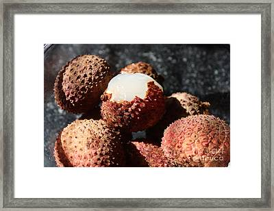 Framed Print featuring the photograph Lychees by Julie Alison