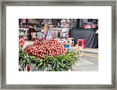 Lychees Framed Print by Tom Gowanlock