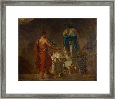 Lycurgus Consulting The Pythia Framed Print by Eugene Delacroix
