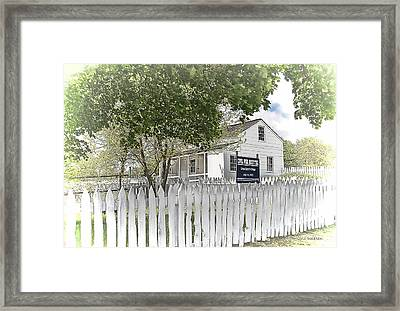 Lydia Leister Farm - Civil War Hospital Framed Print