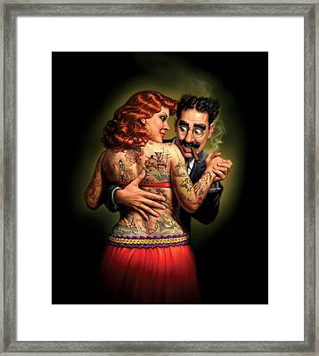 Lydia The Tattooed Lady Framed Print by Mark Fredrickson