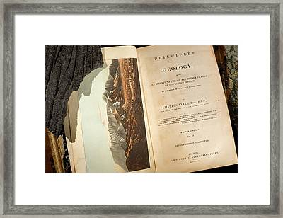 Lyell's 'principles Of Geology' (1833) Framed Print by Paul D Stewart