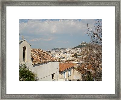 Lykabytos View Framed Print by Greek View