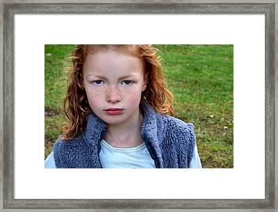 Lyla Framed Print by Julie Dant