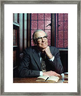 Lyman Spitzer Framed Print by Denise Applewhite/princeton University