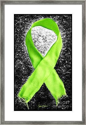 Lyme Disease Awareness Ribbon Framed Print by Luke Moore
