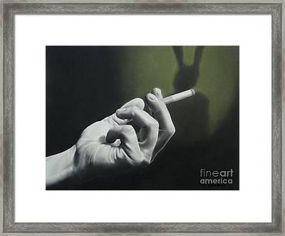 Lynched Rabbits Framed Print by Lorena Rivera