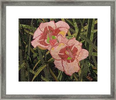 Lynda's Daylilies Framed Print