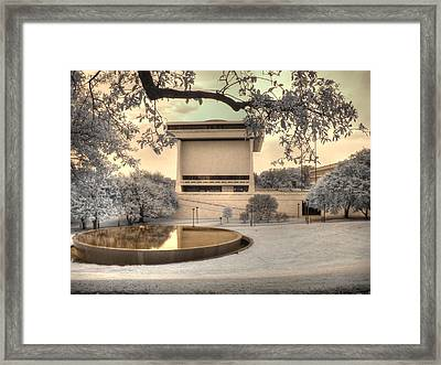 Lyndon B Johnson Presidential Library Framed Print by Jane Linders