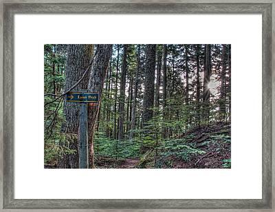 Lynn Peak This Way Framed Print by James Wheeler