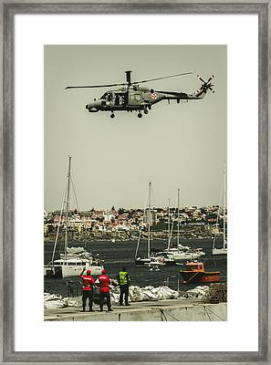Lynx Mk-95 - Air Race Series Vii Framed Print by Marco Oliveira