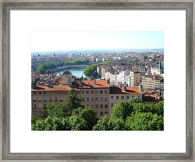Framed Print featuring the photograph Lyon From Above by Dany Lison