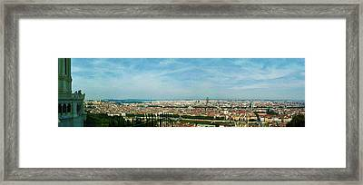 Lyon From The Basilique De Fourviere-color Framed Print by Paulette B Wright