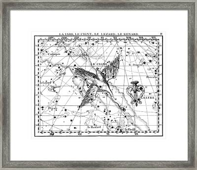 Lyra, Cygnus, Lacerta And Vulpecula Framed Print by U.S. Naval Observatory Library