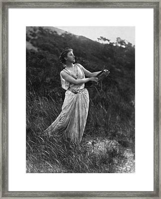 Lyre Player, C1873 Framed Print by Granger