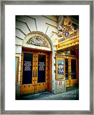 Lyric Theatre - Music Framed Print
