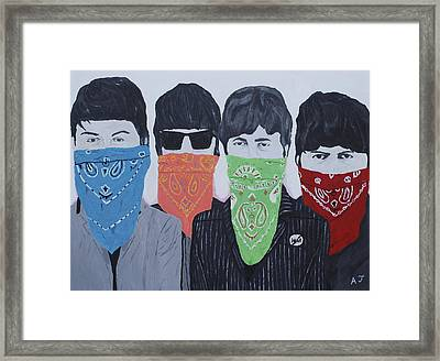 Lyrical Gangsters Framed Print by Austin James