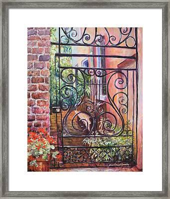 Lyrical Gate Framed Print by Alice Grimsley