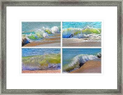 Lyrical Literacy Of Waves Framed Print