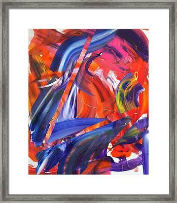 Lyrical Wax Framed Print by Richard Day
