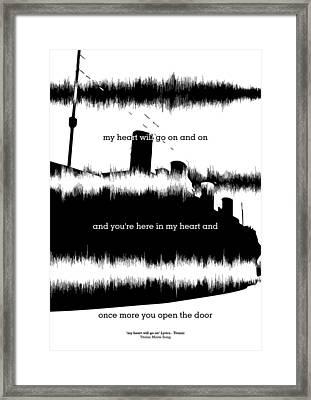 Lyrics Quotes Poster Framed Print