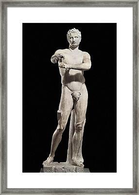 Lysippus C. 370-318 Bc. Apoxyomenos Framed Print by Everett