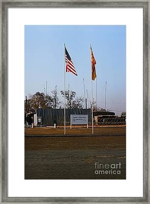 Lz Oasis 3d Brigade None Better Headquarters 4th Infantry Division Vietnam  1969 Framed Print