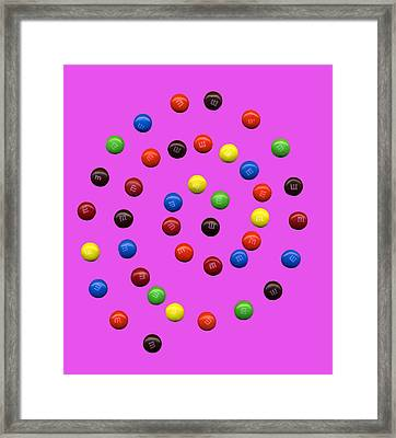 M And M 2 Framed Print