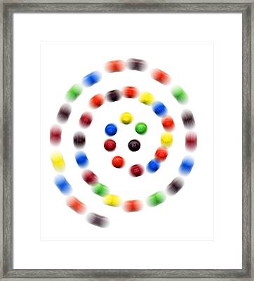 M And M Candy Framed Print