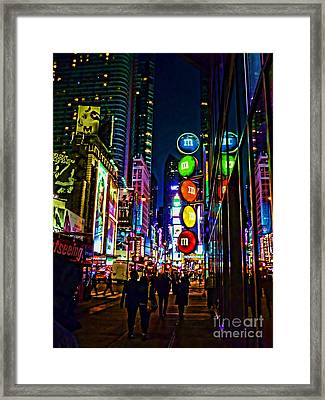 m and m store NYC Framed Print by Jeff Breiman