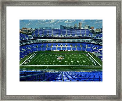 M And T Bank Stadium Framed Print