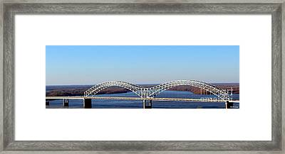 Framed Print featuring the photograph M Bridge Memphis Tennessee by Barbara Chichester