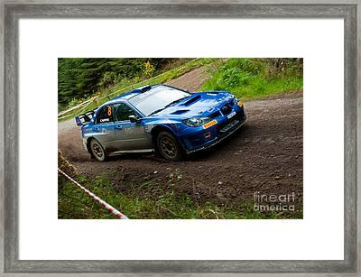M. Cairns Driving Subaru Impreza Framed Print