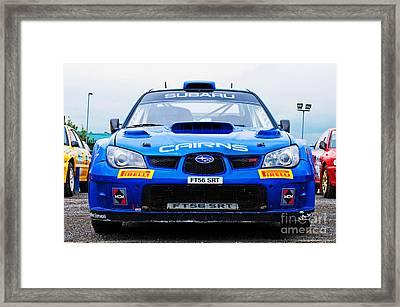 M. Cairns Subaru Impreza Framed Print by Luis Alvarenga