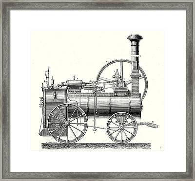 M. Callas Traction Engine Framed Print by English School
