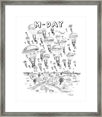 'm-day' Framed Print by Roz Chast