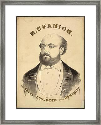 M. Evanion Framed Print by British Library