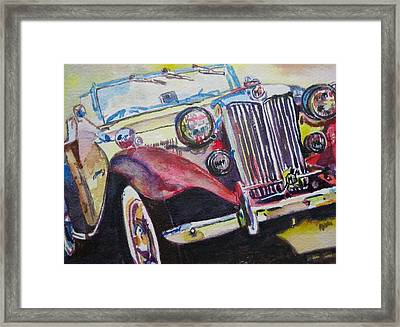 M G Car  Framed Print