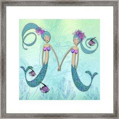 M Is For Marvelous Mermaids Framed Print