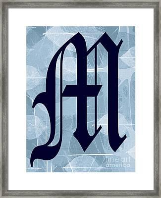 M Is For Me Framed Print