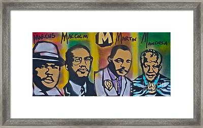 M Is The Magic Letter Framed Print by Tony B Conscious