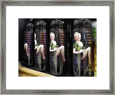 M Merlot Framed Print