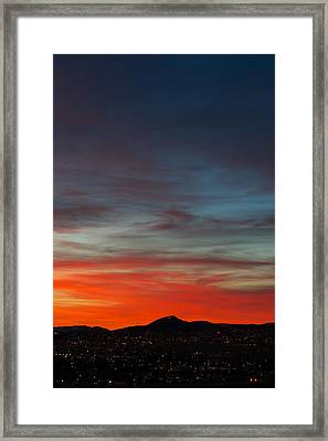 M On Fire  Framed Print